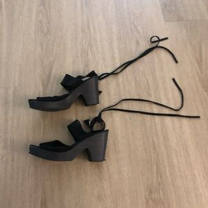Free People Suede Toe-up Clogs